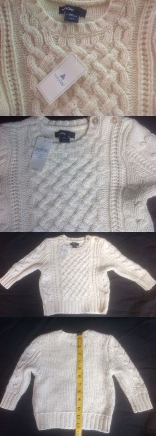 b72e6ac93888 Sweaters 147338  Nwt  30 Infant Baby Gap Ivory Cable Knit Pullover ...