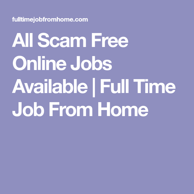 Online jobs from home all free