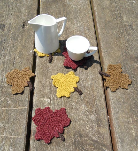 Posavasos de ganchillo  Crochet coasters por Elcuartodelasagujas, €15.00