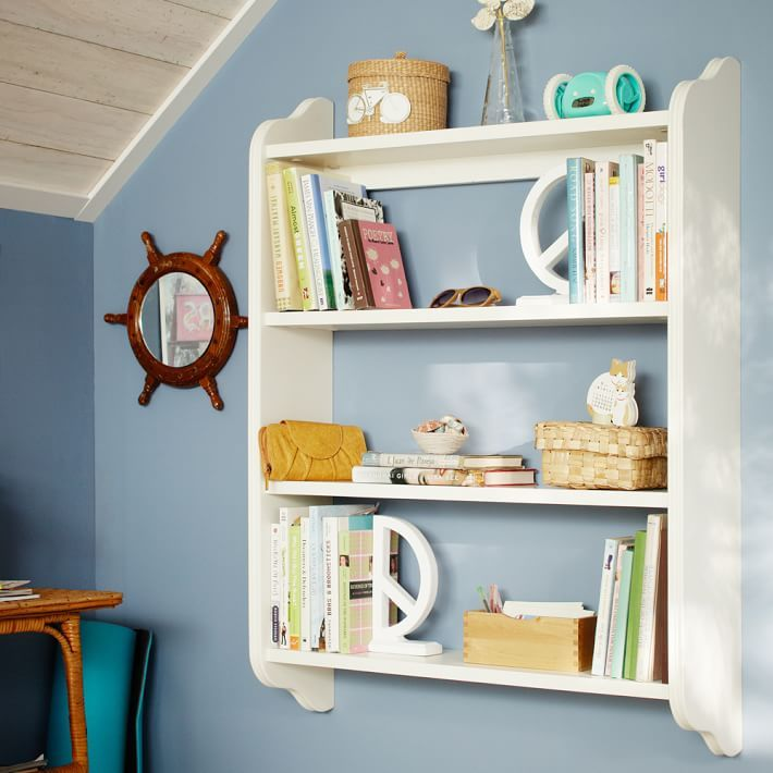 Wonderful Wall Bookcase Part - 10: Beadboard Wall Bookcase - I Would Use It For Jewelry Or Fingernail Polish  Bottles - CUTE - Comes In Several Different Colors Besides White