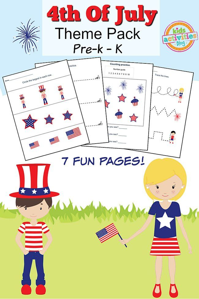 4th of July Printable Preschool Worksheet Pack Printable preschool - new 4th of july coloring pages preschool