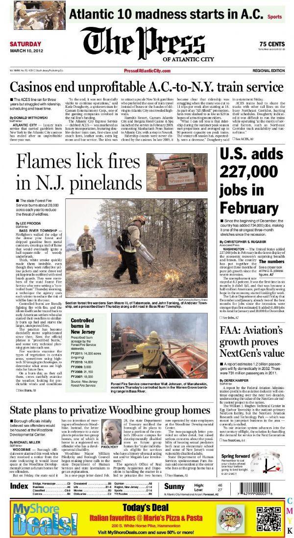The Press Of Atlantic City My Local Newspaper News Magazines Atlantic City Local News