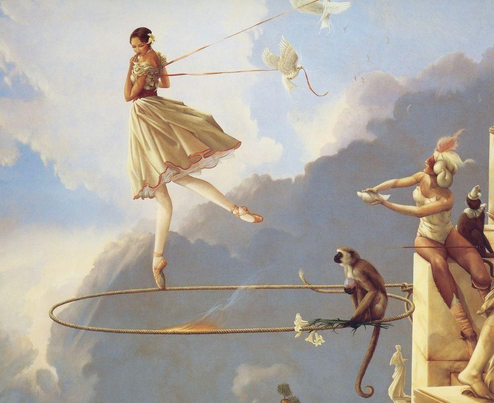 Michael Parkes print TUESDAYS CHILD full of grace ballerina fantasy art print