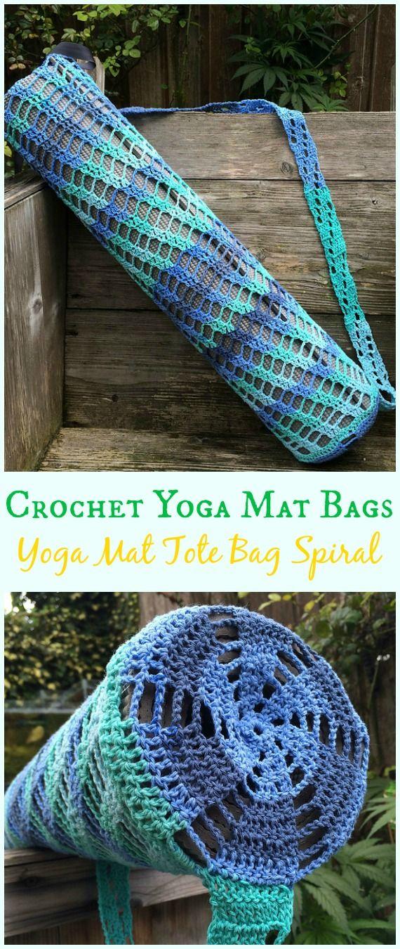 Crochet Yoga Mat Bag Free Patterns | Yoga mat bag, Spiral and Yoga