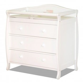 Athena Grace Changing Table Dresser White With Images