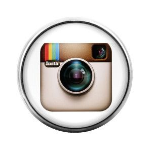 Instagram- 18MM Glass Dome Candy Snap Charm GD0125