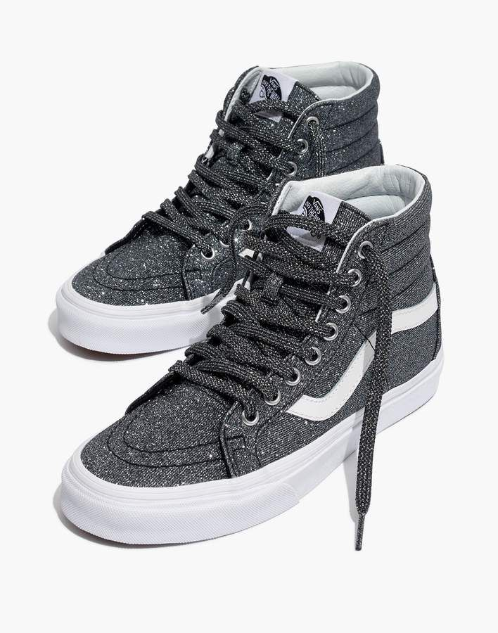 ecaf5d10be01e9 Madewell Vans Unisex SK8-Hi Reissue High-Top Sneakers in Black Glitter