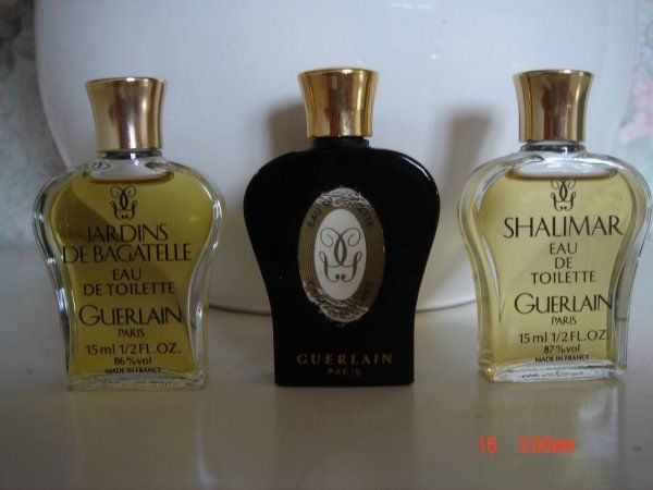 Flacons Lyres De Guerlain Shalimar Jardins De Bagatelle Et Chant D Aromes Miniature Parfum Flacons Parfums