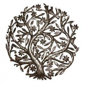 arbre de vie en m tal les fleurs generique arbre de vie d coration murale et fleurs. Black Bedroom Furniture Sets. Home Design Ideas