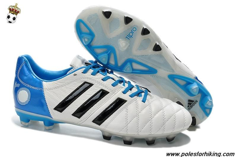 sale retailer b2296 808be Authentic TRX FG Adidas 11Pro (White Black Blue). Find this Pin and more on  Nike Football Shoes ...