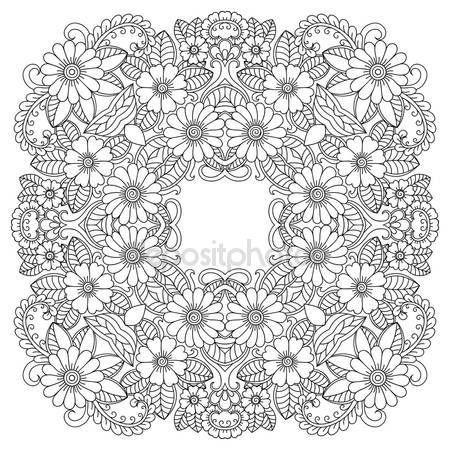 Descargar - Mandala del tatuaje de henna mehndi estilo. Modelo para ...