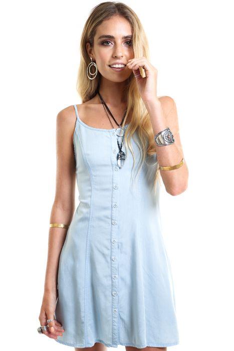 Cloud Chaser Denim Dress - Verge Girl