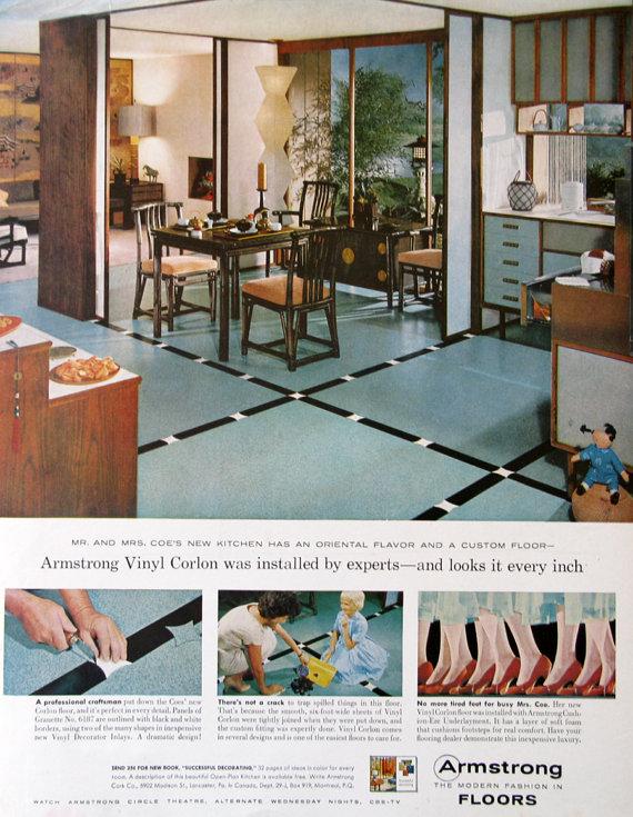 1959 armstrong vinyl floor ad midcentury modern kitchen decor  retroreveries 1959 armstrong vinyl floor ad midcentury modern kitchen decor      rh   pinterest com