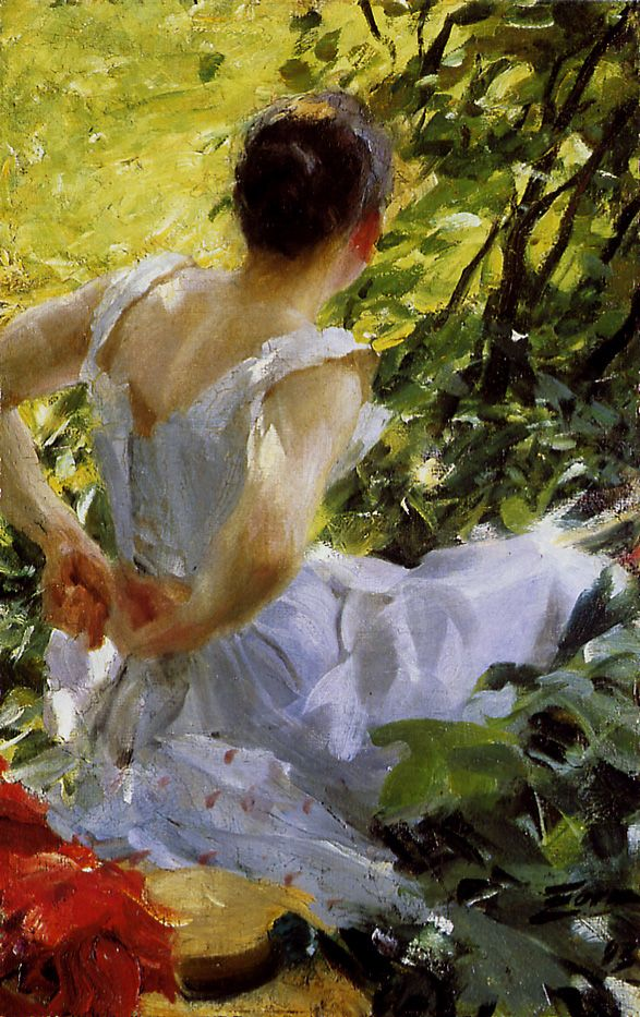 Anders Zorn In The Woods 1893 Oil On Canvas Private