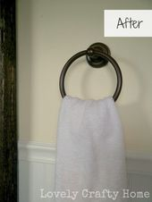 Photo of spray paint your bathroom fixtures: Rustoleum Metallic Flat Burnish Amber. From#…