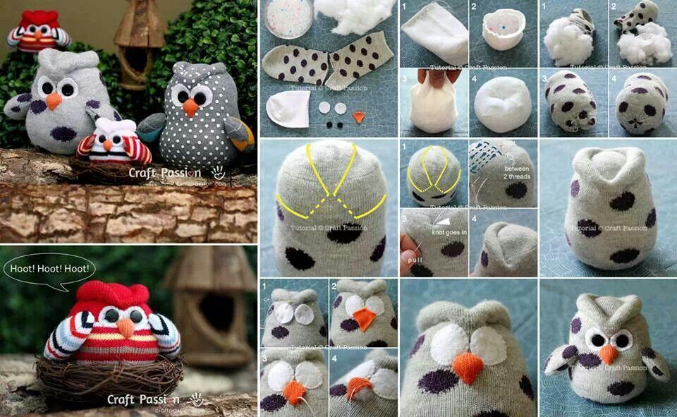 Bekend Uiltjes maken van sokken | Crea bea :-) | Sokken, Sok knutsels @PN03