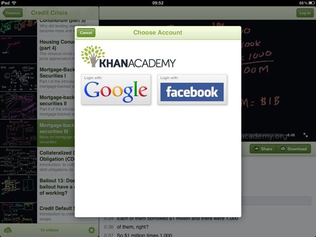 Khan Academy For iPad Modern Learning Looks Like This