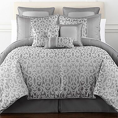 jcp | Home Expressions™ Erin Scroll 7-pc. Comforter Set | Sweet ...