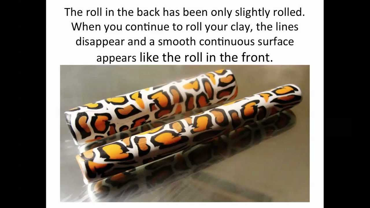 How To Create Polymer Clay Canes - Cheetah Print