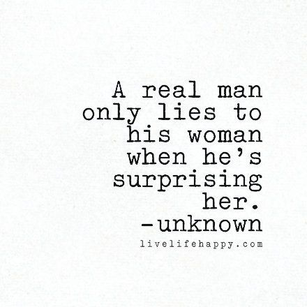 Why A Man Lies To A Woman