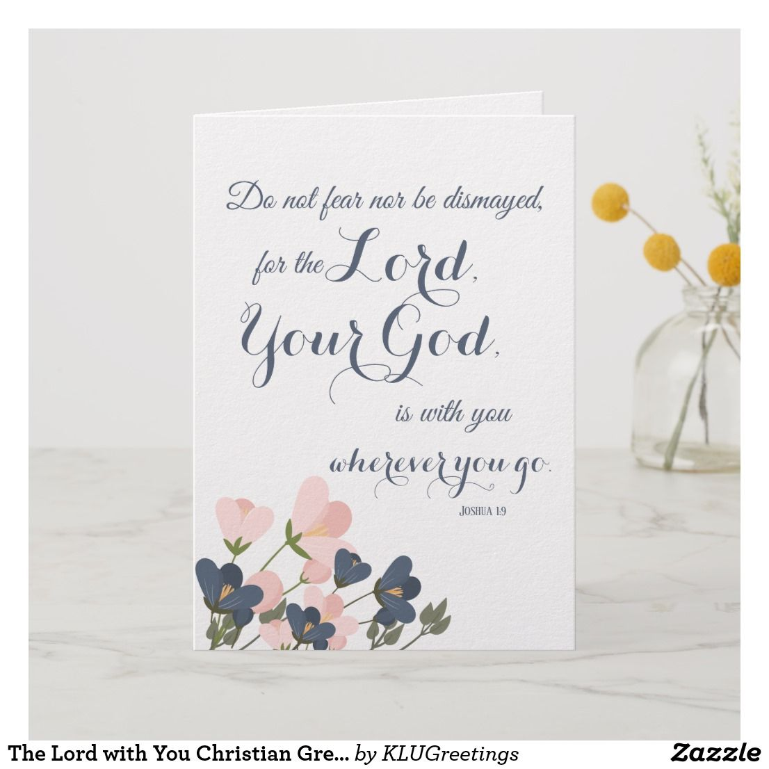 The Lord with You Christian Greeting Card Template  Zazzle.com