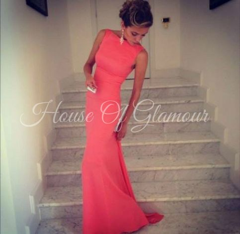 Coral+backless+prom+dress,+can+be+done+any+size+and+color+as+long+as+its+customized.+    Please+contact+us+for+more+info+about+the+size+before+ordering.