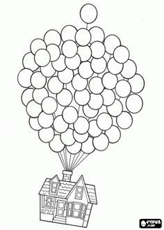 Up Flying House Drawing Google Search Disney Coloring Pages