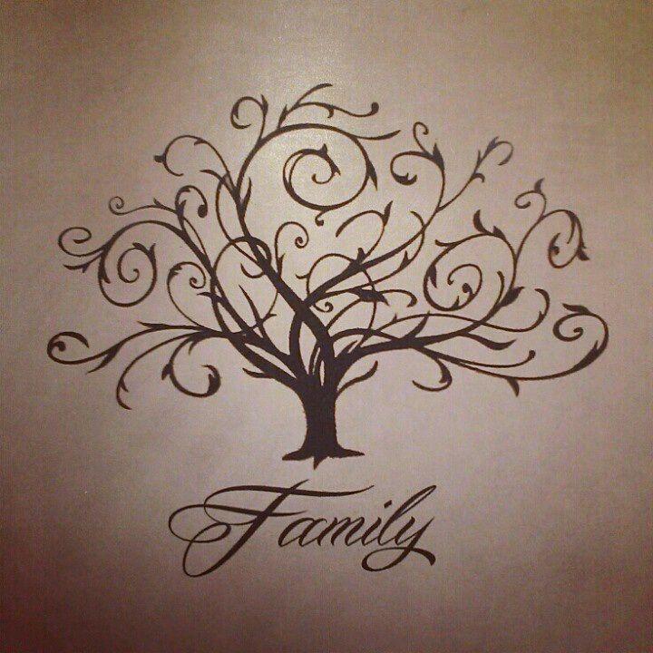 Swirly Family Tree Tattoo Lettering Pinterest Family