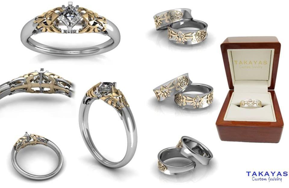 Legend of Zelda inspired wedding rings