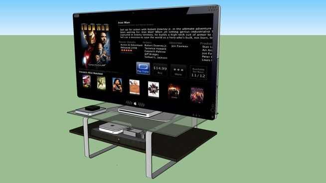 Apple Cinema HD Tv Tvs, Sketchup model, Old computers