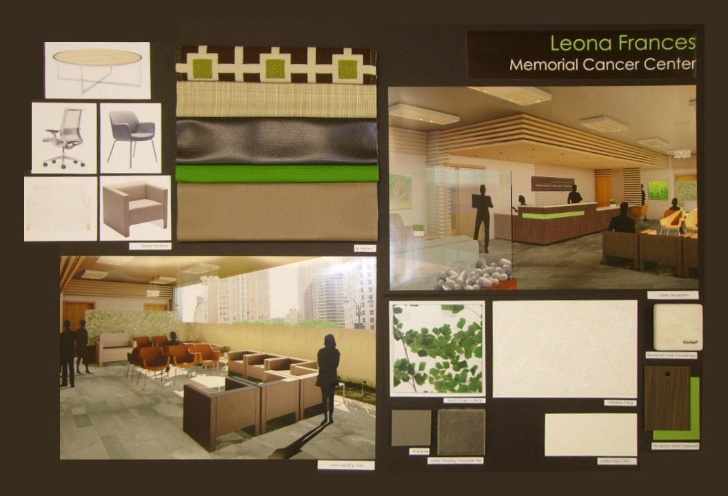 Presentation board from interior design student showing for Interior design presentation styles