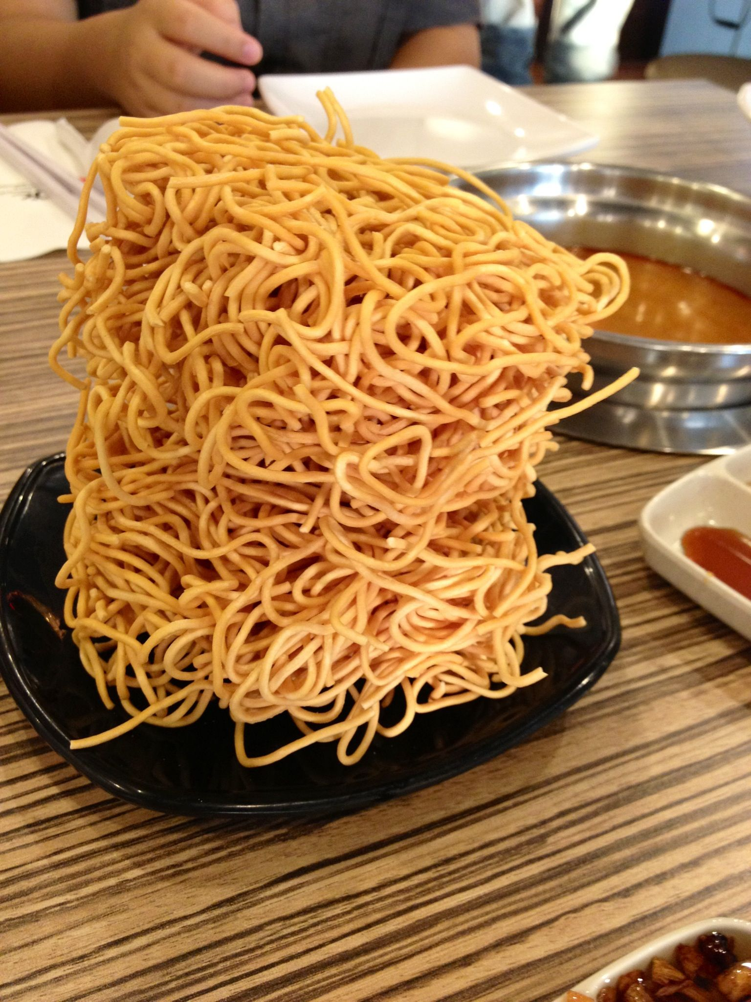 Deep fried noodles called Yee Mee a well liked chinese noodles