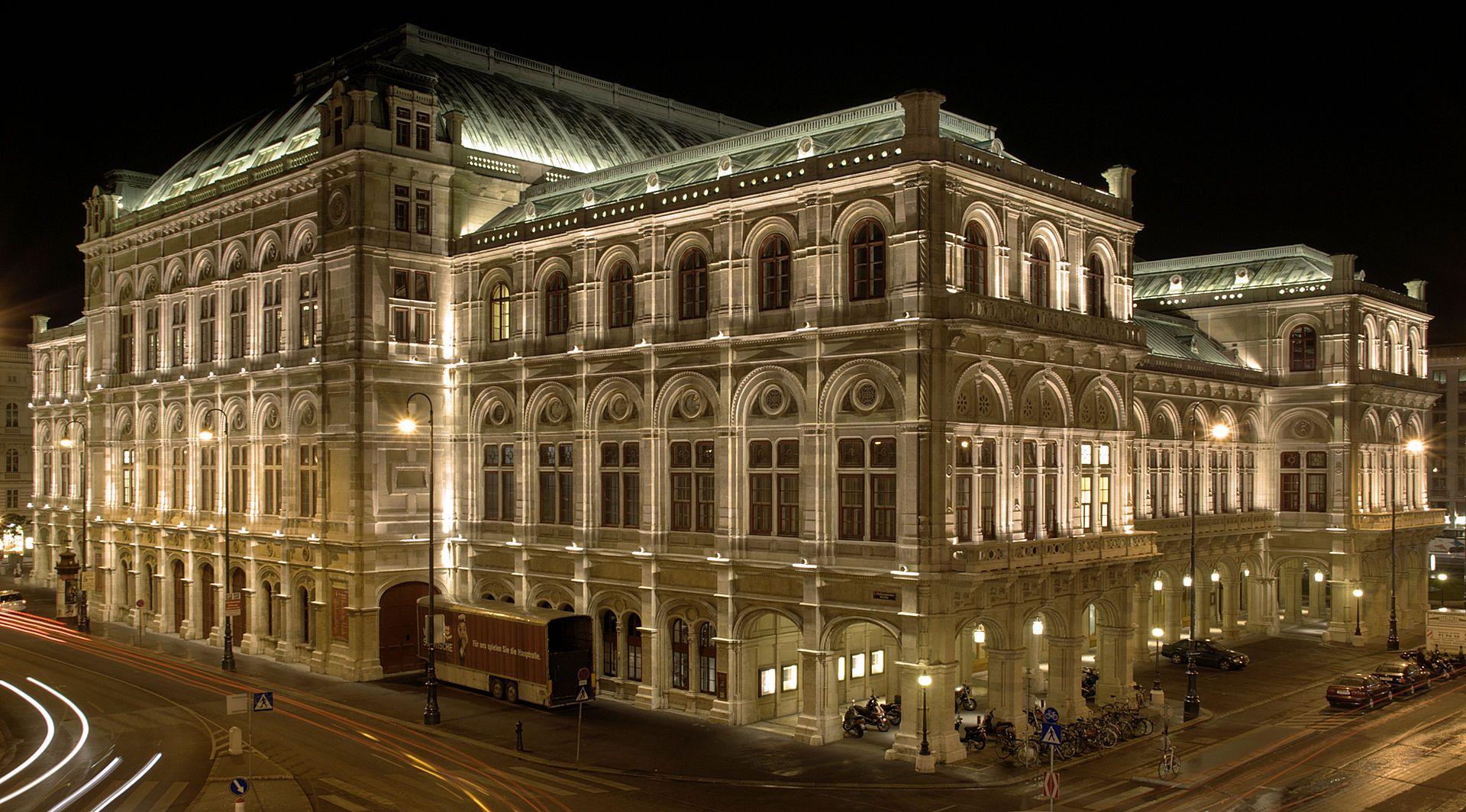 StateOperaViennaNightBackside Vienna State Opera