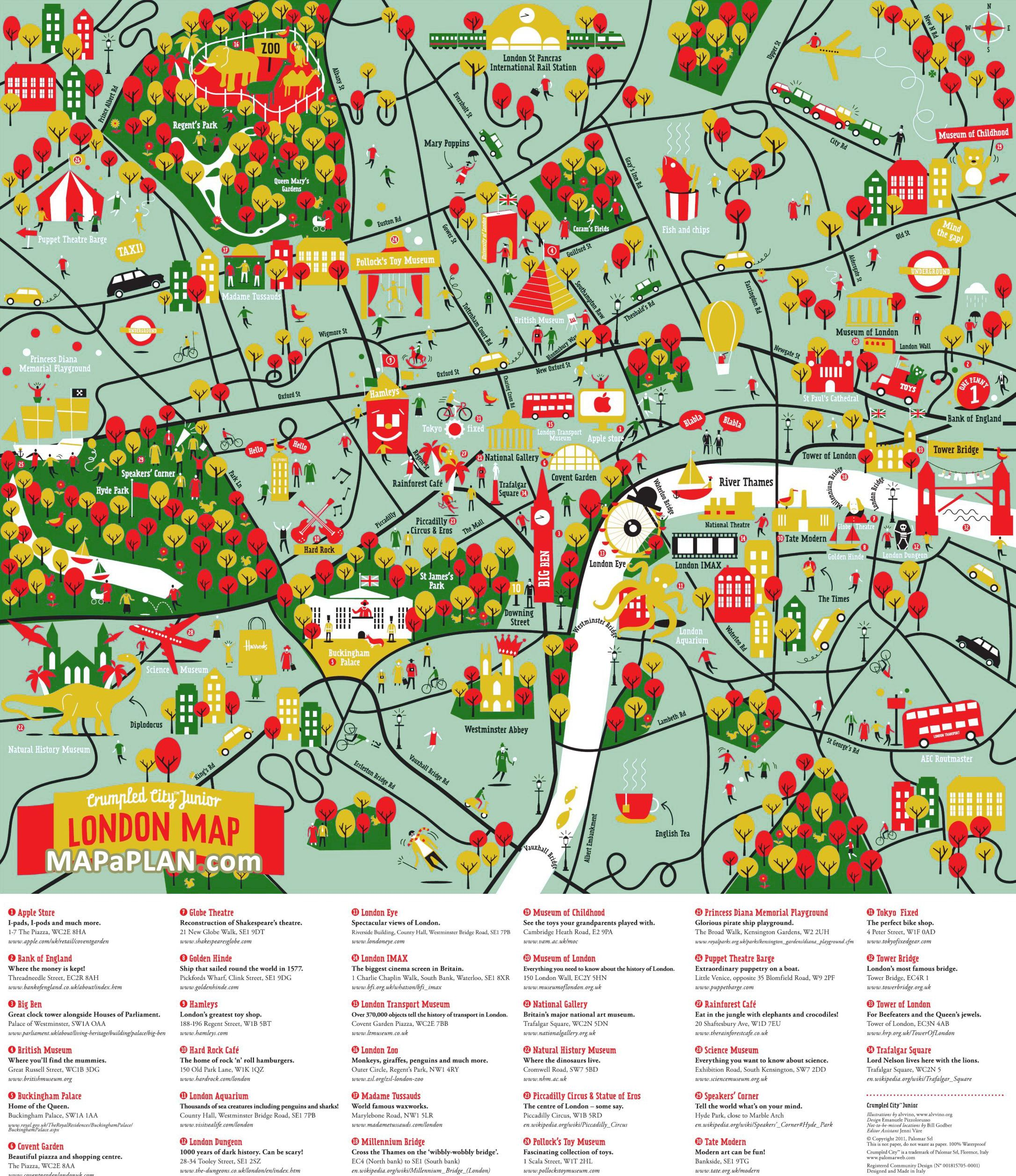 London Top Tourist Attractions Map Great Family Things To Do With Kids Colourful Map London Map London Tourist Attractions London Tourist Map