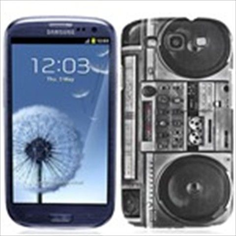 Protective Hard Case Cover Shell Protector For Samsung Galaxy S III i9300 - Vintage Radio Pattern