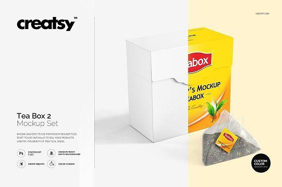 Download Tea Box Mockup Set 2 Box Mockup Tea Box Free Psd Mockups Templates
