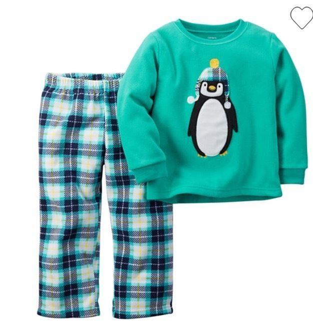 270b542110ef Carter s Christmas Toddler Boy s Green Fleece 2-piece Pajama Set ...