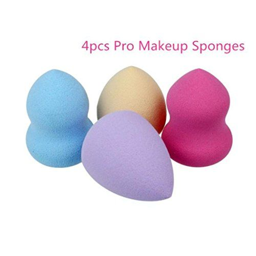 From 2.38:Ddlbiz 4pcs New Arrivisl Pro Beauty Flawless Makeup Blender Foundation Puff Multi Shape Sponges With The Bottle Gourd Shape And Water Shape (4pcs)