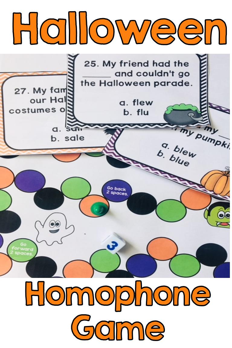 Halloween Homophones Homophones Fun Grammar Games Homophones Games [ 1152 x 768 Pixel ]