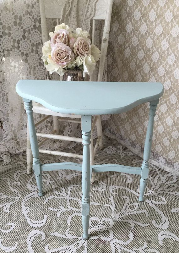 Shabby Demilune Tablehalf Roundhalf Moonthree Leg By