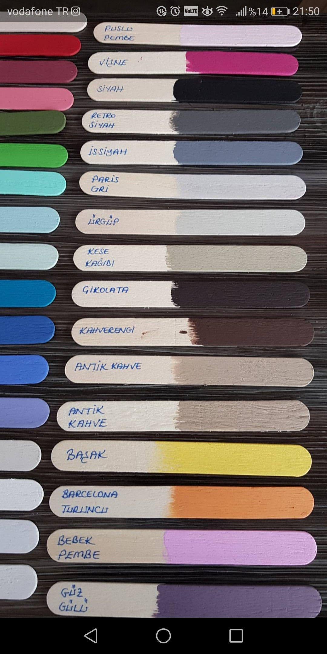 Gokhan Selvi Adli Kullanicinin Ahsap Boyama Panosundaki Pin Boya Renkleri Renkler Renk Temalari