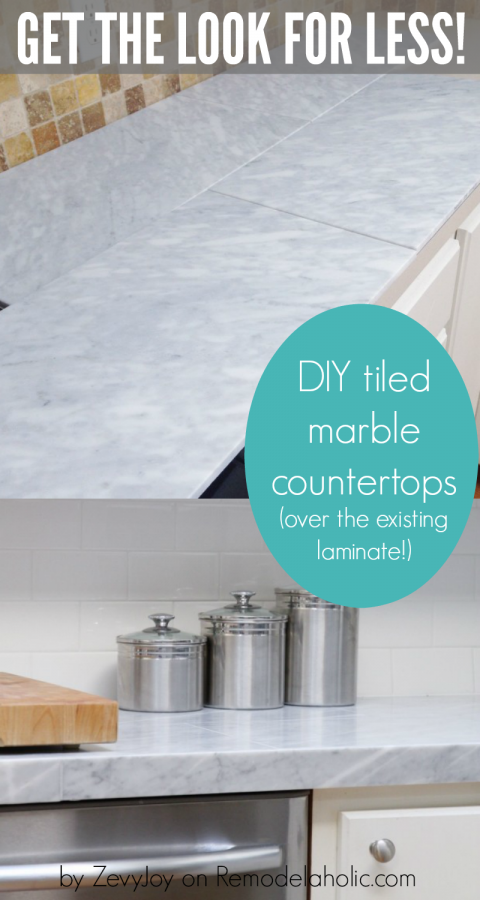 Diy Tiled Marble Countertops A Budget Friendly Alternative To