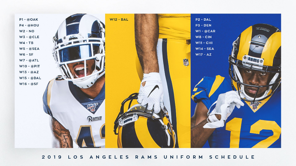 Los Angeles Rams On Twitter Los Angeles Rams Los Angeles Rams Uniforms Sports Graphic Design