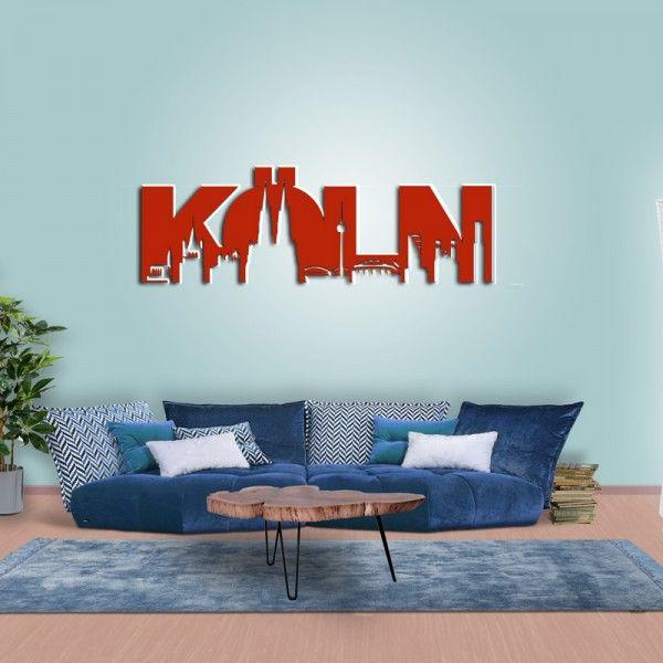 Wanddeko Köln Skyline Wohnzimmer rot Basteln Pinterest - bilder wohnzimmer rot