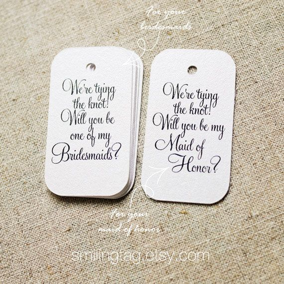 Will You Be My Bridesmaids Maid Of Honor Gift Tags