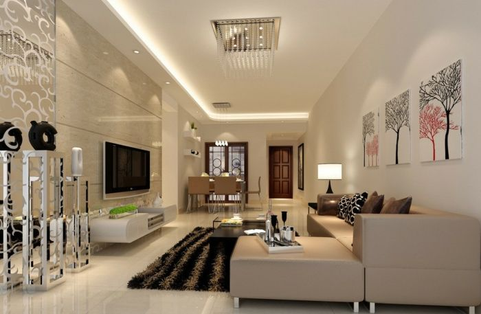 kleines wohnzimmer einrichten granit wandfliesen bodenfliesen - wohnzimmer beige modern