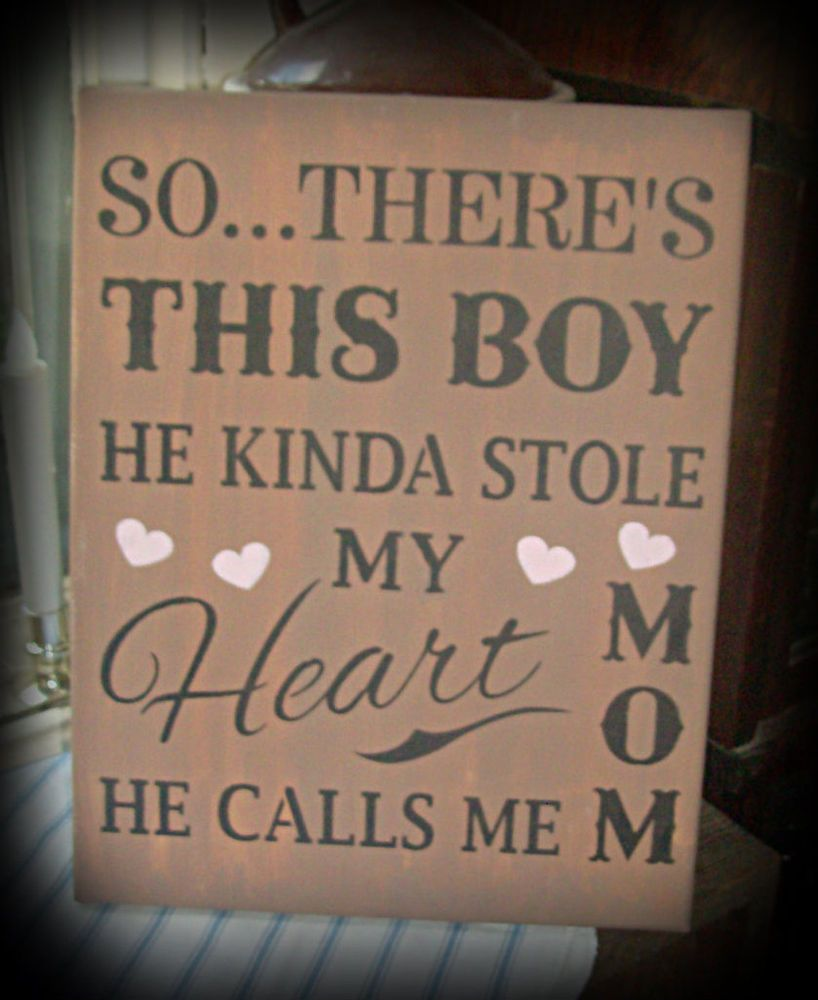 TLW Debi Sign Country Decor Shelf HEART There's This Boy