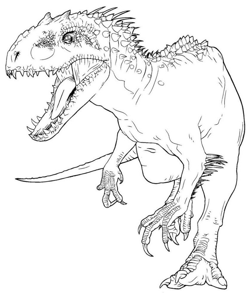 Indominus Rex Coloring Pages In 2020 Dinosaur Coloring Pages Jurassic World T Rex Coloring Pages