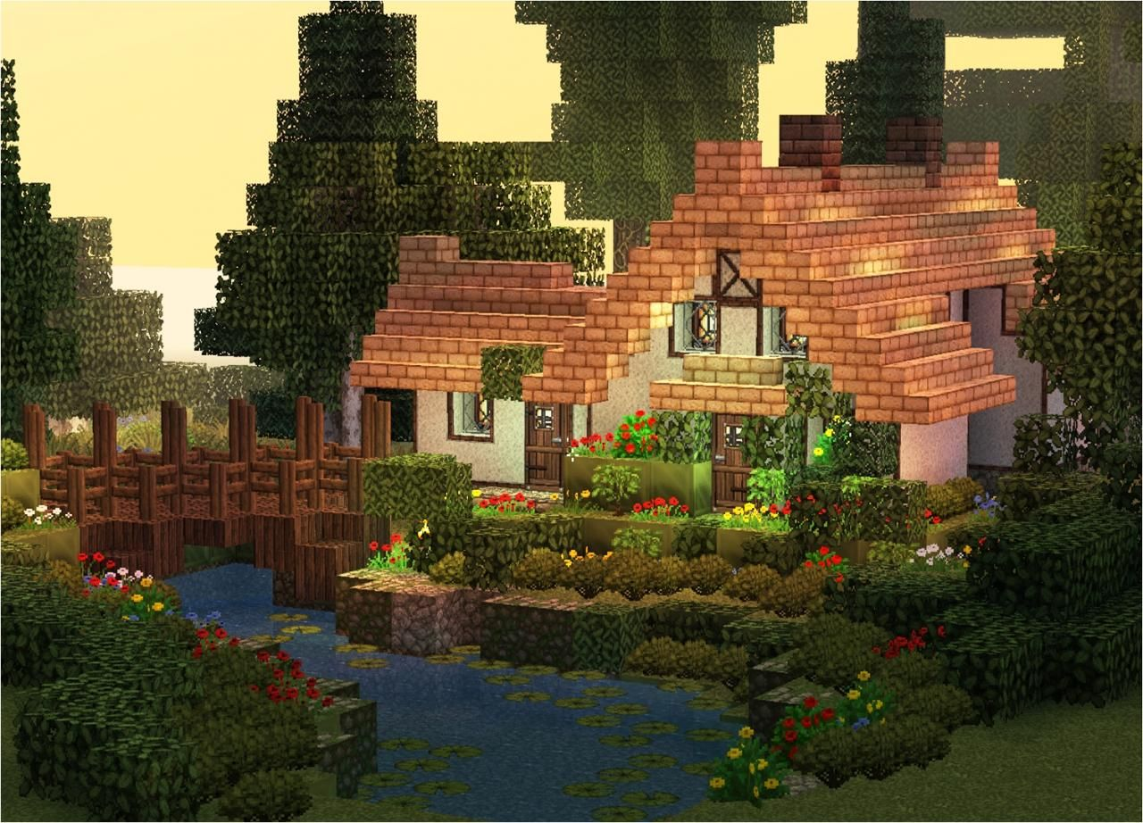 Stream cottage minecraft project videospiele pinterest for Cottage haus bauen