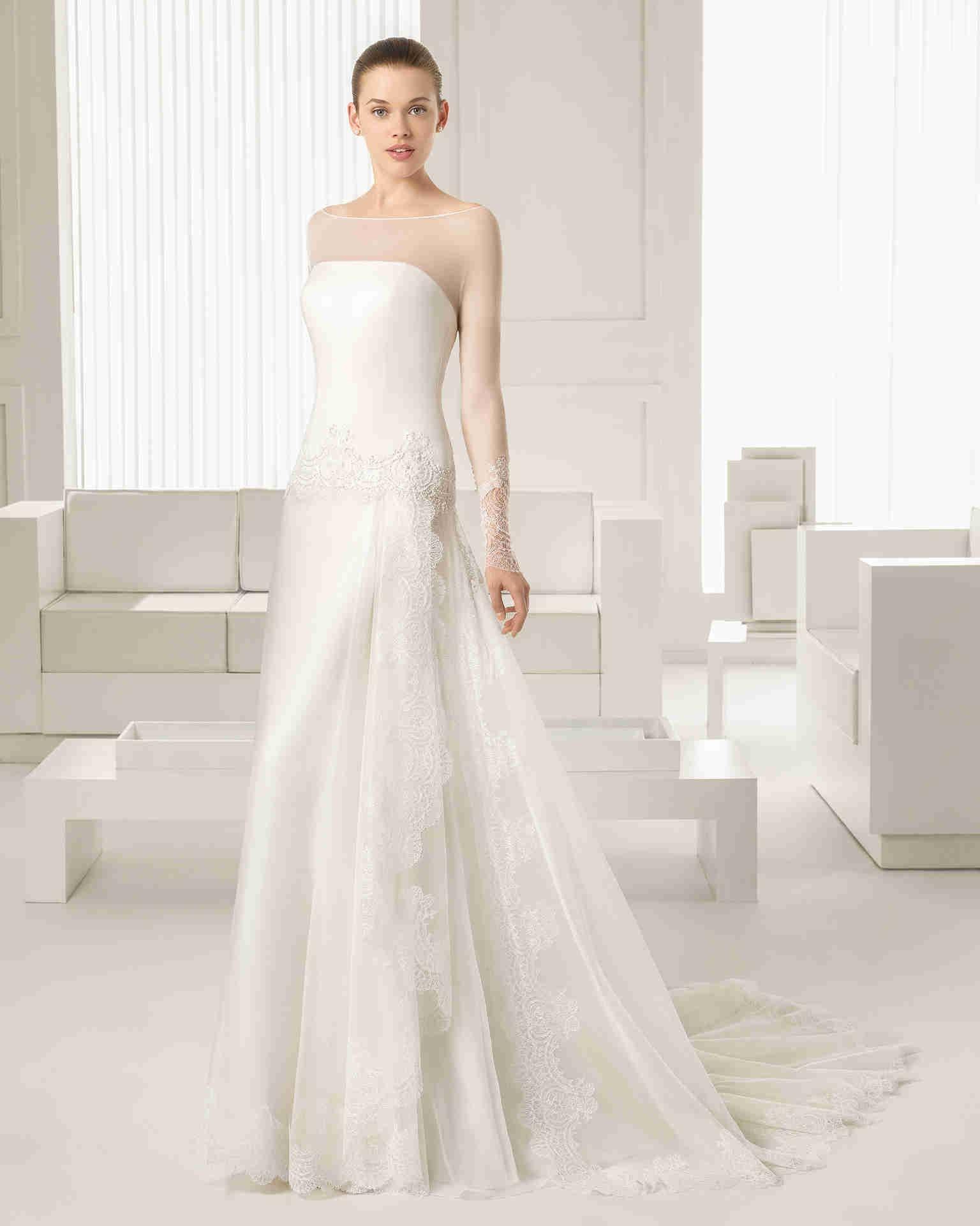 Silk sheath wedding dress  Wishesbridal Sheath Column Bridal Wedding Dress   Wedding